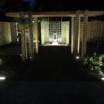 Tuin volledig uitgelicht met ledverlichting
