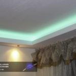 Led-verlichting tegen het plafond