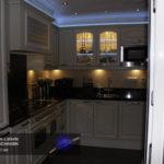 Ook keukenschappen kunt u verlichten met led-verlichting